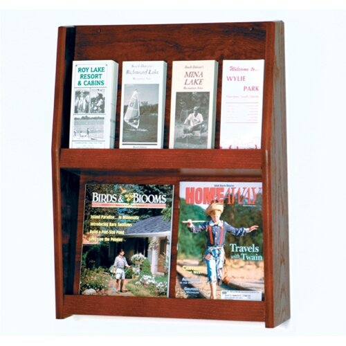 Wooden Mallet 4 Magazine / 8 Brochure Wall Display