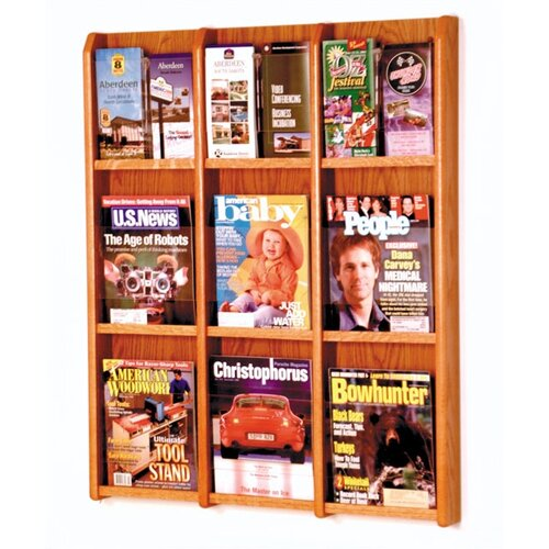 Wooden Mallet 9 Magazine / 18 Brochure Wall Display