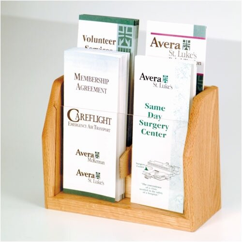 Wooden Mallet Countertop 4 Pocket Brochure Display