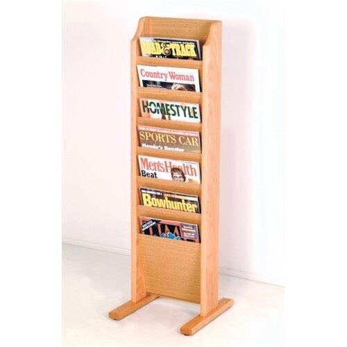 Wooden Mallet 7 Pocket Free Standing Magazine Rack