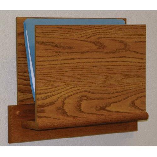Wooden Mallet Open End Single Chart Holder - HIPPAA Compliant