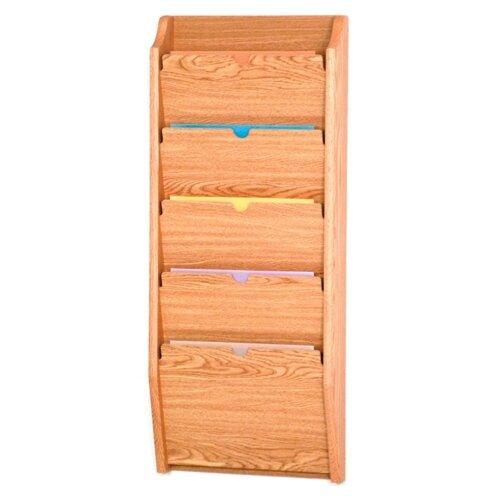 Wooden Mallet Five Pocket HIPPAA Compliant Chart Holder