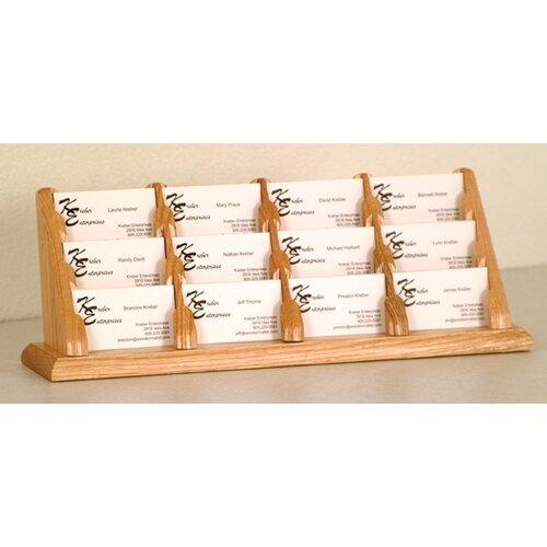 Wooden Mallet Twelve Pocket Counter Top Business Card Holder