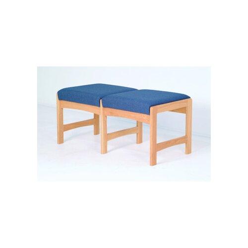 Wooden Mallet Dakota Wave Two Seat Bench with Designer Fabric