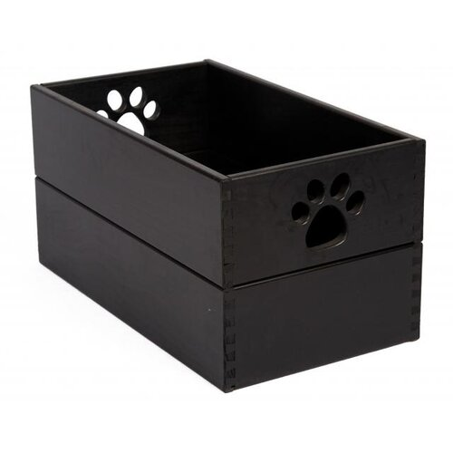 Pet Toy Box in Antique Black