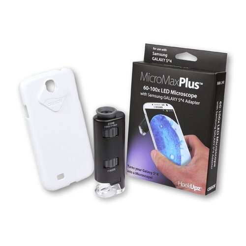 Carson HookUpz MicroMax Plus 60x-100x LED Pocket Microscope with Samsung Galaxy S4 Adapter