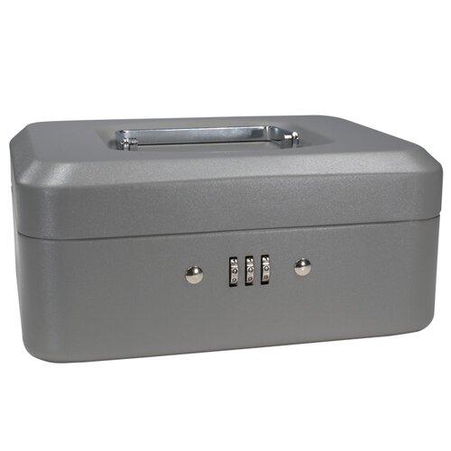 Small Gray Combination Lock Box