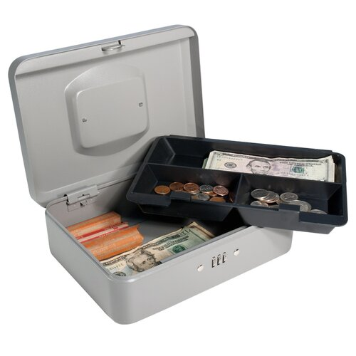 Barska Medium Gray Cash Box with Combination Lock