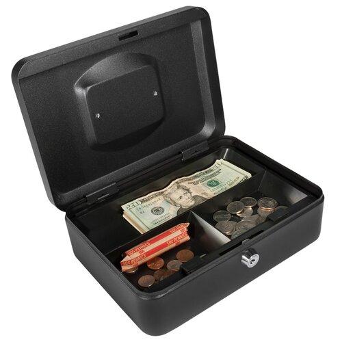 Barska Medium Black Cash Box with Key Lock