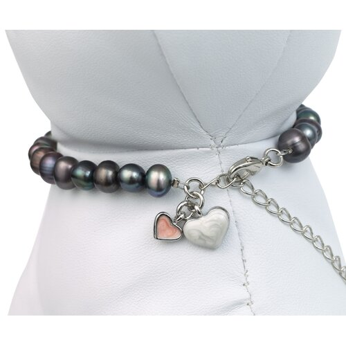 Unity™ Pet Necklace in Black Pearls
