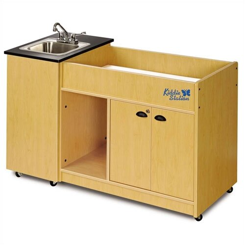 "Ozark River Portable Sinks 58"" x 26"" Kiddie Station Portable Handwashing Station with Storage Cabinet"