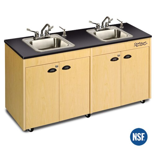 "Ozark River Portable Sinks Lil' 52"" x 18"" Deluxe Portable Handwashing Station with Storage Cabinets"