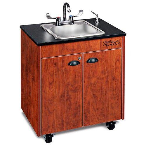 "Ozark River Portable Sinks Lil' 26"" x 18"" Premier Portable Handwashing Station with Storage Cabinet"