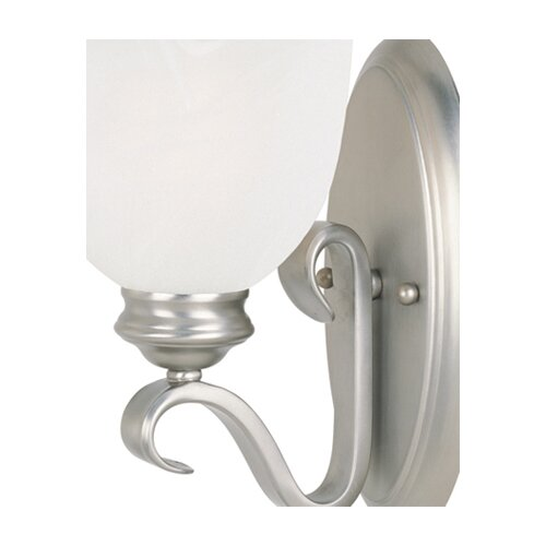 Wildon Home ® Akers 1 Light Wall Sconce in Pewter