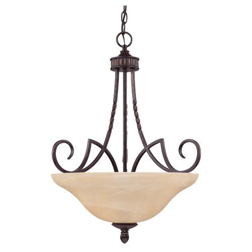 Wildon Home ® Keystone 3 Light Bowl Inverted Pendant