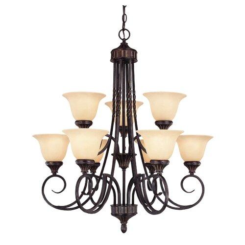 Wildon Home ® Keystone 9 Light Chandelier