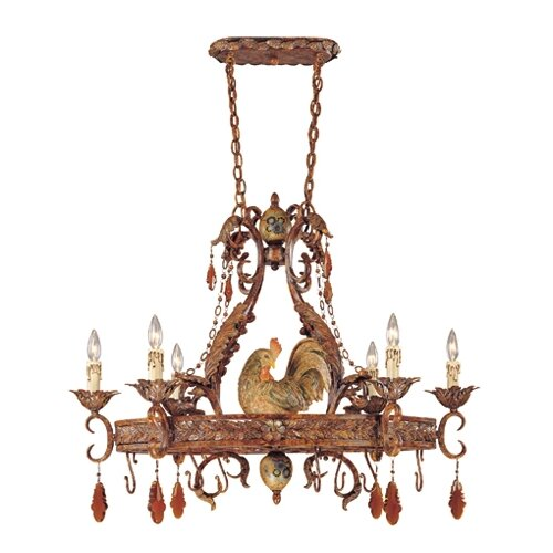 Wildon Home ® Rabun Chandelier Pot Rack with 6 Light