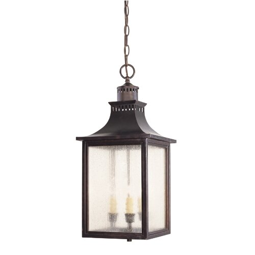 Wayfair Outdoor Hanging Lights: Savoy House Fuller 3 Light Outdoor Hanging Lantern