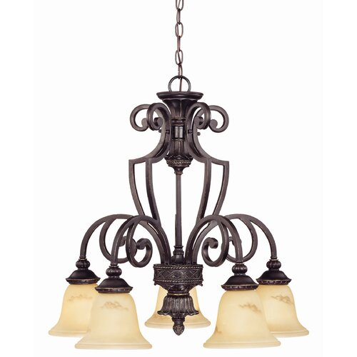 Wildon Home ® Ladoga 5 Light Down Chandelier