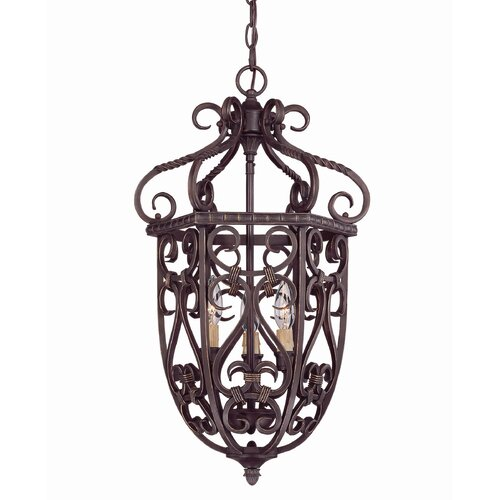Wildon Home ® Tabatha 3 Light Cage Foyer Pendant
