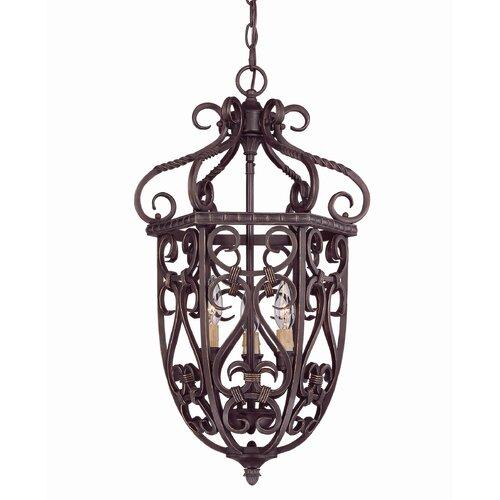 Wildon Home ® Tabatha 3 Light Cage Foyer Pendant