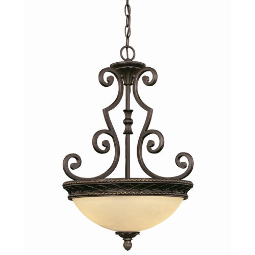 Wildon Home ® Knight 2 Light Bowl Inverted Pendant