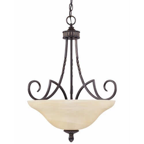 Wildon Home ® Keystone 3 Light Bowl Inverted Pendant