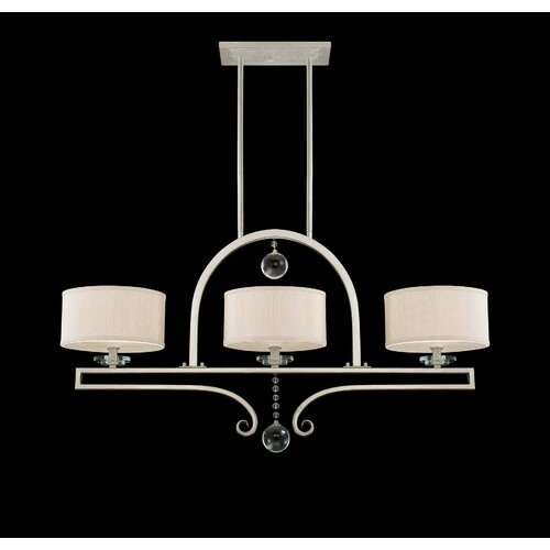Wildon Home ® Rosendal 3 Light Linear Chandelier Island Light