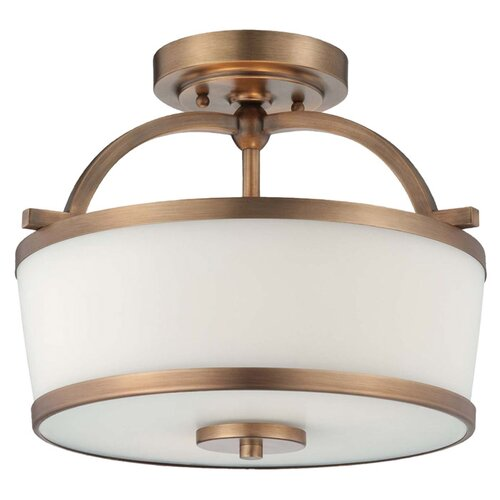 Wildon Home ® Mason 2 Light Semi Flush Mount