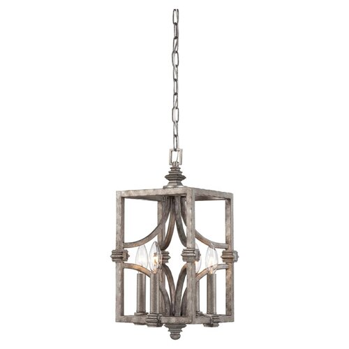 Wildon Home ® Structure 4 Light Foyer Pendant