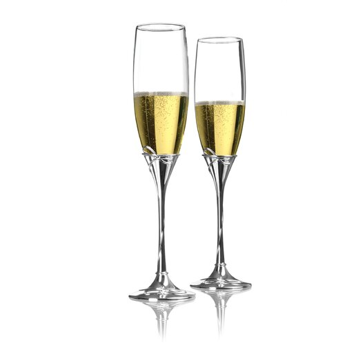 Ballet Ribbon Toasting Flute Glass (Set of 2)