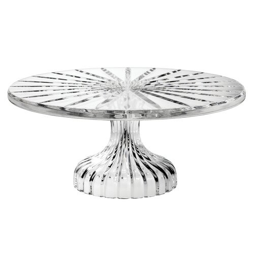 """Waterford Bezel Footed 11"""" Cake Plate"""