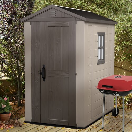 "Keter Factor 6'2.5"" W x 4'3"" D Resin Tool Shed"