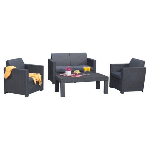 Keter Limousine 4 Piece Seating Group