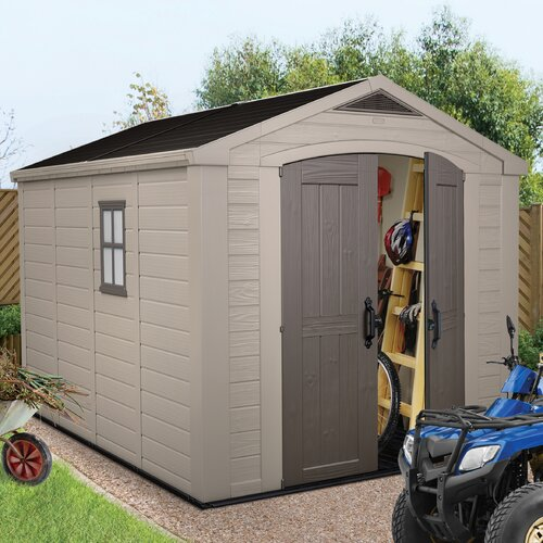 """Keter Factor 11' W x 8'5"""" D Resin Storage Shed"""