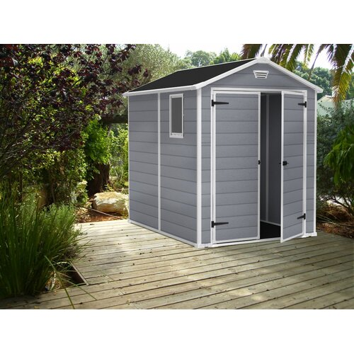 Keter Manor 6ft. W x 7.5ft. D Plastic Tool Shed