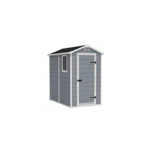 keter manor 4 ft w x 6 ft d plastic shed reviews wayfair. Black Bedroom Furniture Sets. Home Design Ideas