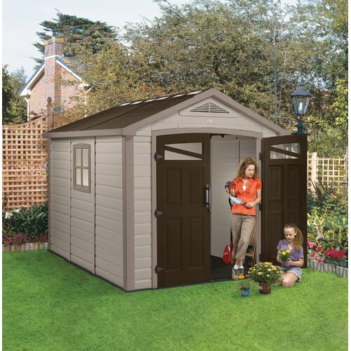 """Keter Orion 8'5"""" W x 9'5"""" D Resin Storage Shed"""