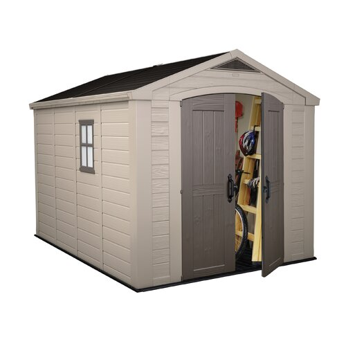 Keter Factor 11ft. W x 8.42ft. D Resin Storage Shed