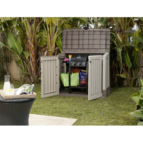 "Keter Woodland 4'5"" W x 2'5"" D Resin Tool Shed"