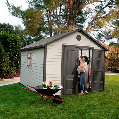 Lifetime 10.5 Ft. W x 13 Ft. D Plastic Storage Shed