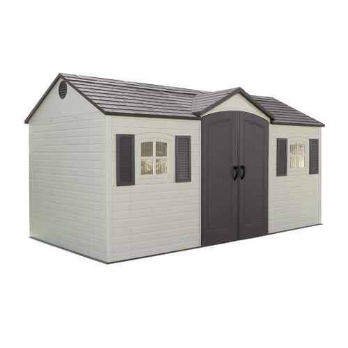 Lifetime Side Entry 14.5 Ft. W x 7.5 Ft. D Plastic Storage Shed