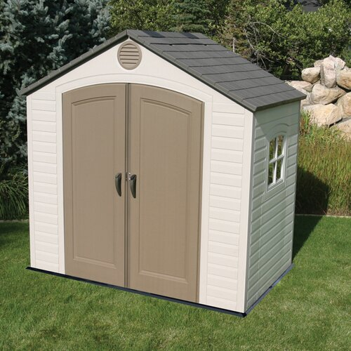 Lifetime 8' W x 5' D Plastic Storage Shed