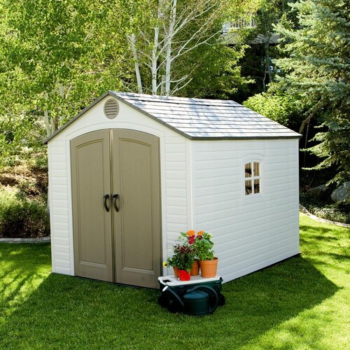Lifetime 8 Ft W X 10 Ft D Storage Shed Amp Reviews Wayfair