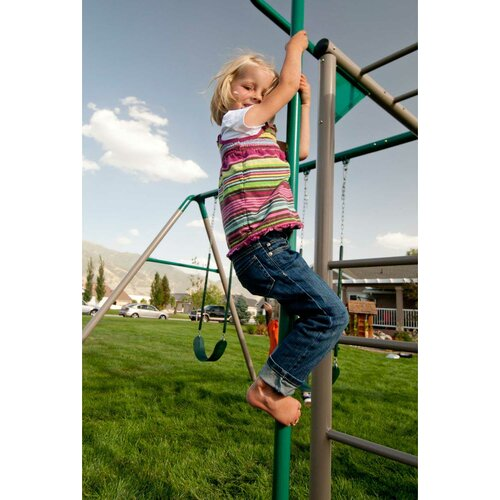 Lifetime Earthtone Monkey Bar Adventure Swing Set