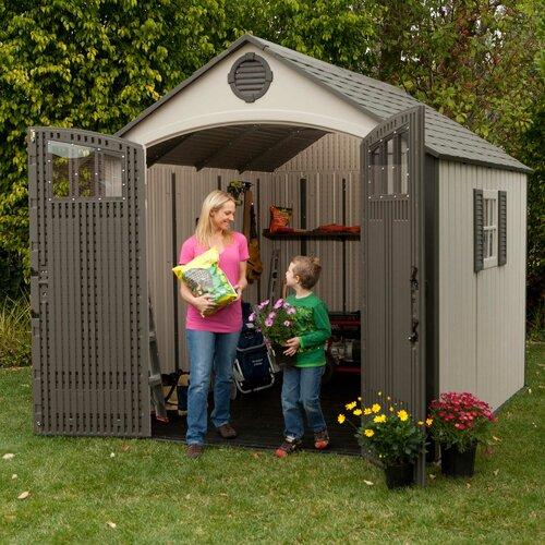 Lifetime Premium 7.5 Ft. W x 9.5 Ft. D Plastic Garden Shed