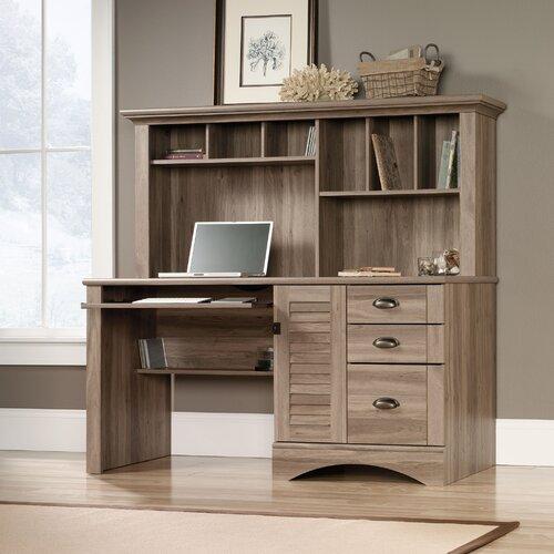 Sauder Harbor View Computer Desk with Hutch & Reviews | Wayfair