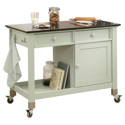 Sauder Original Cottage Kitchen Island Cart with Slate Top & Reviews