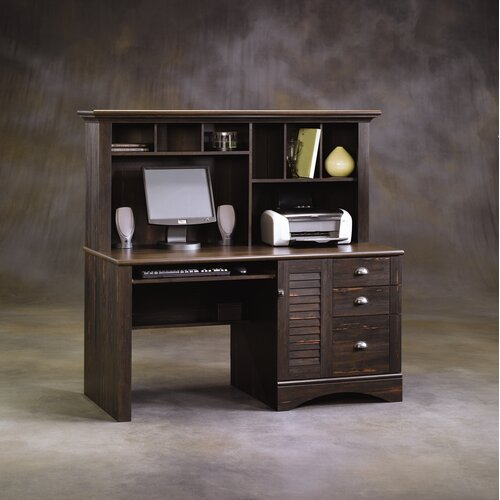 Sauder Harbor View Computer Desk with Hutch
