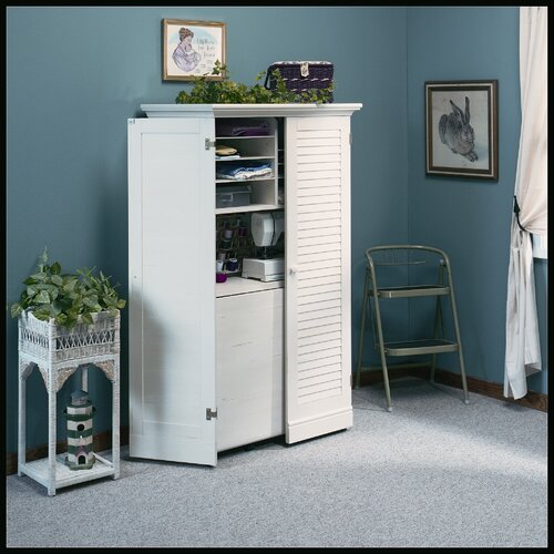 "Sauder Harbor View 35.5"" Craft Armoire Storage Cabinet"